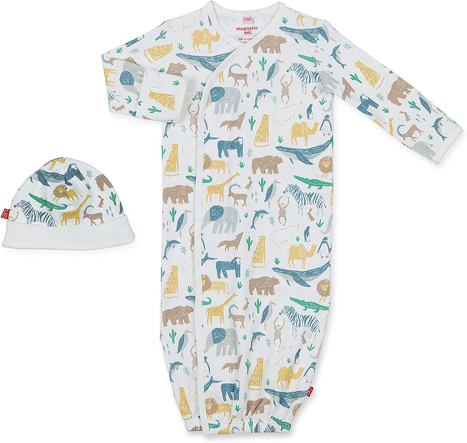 Gorgeous Magnetic Max 75% OFF Me by Magnificent Baby Cotton Gown Organic 100% Sack