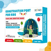 BOTARO Fort Building Kits for Kids Tiny Land 87 Pieces Creative Fort Toy for 3+ Years Old Boy & Girls Blanket Included - L...