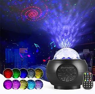 Lampe Projecteur LED Étoile, Starry Projector Light Avec 27 Modes & Télécommande & Timer & Enceinte & Bluetooth, Lampe Pro...