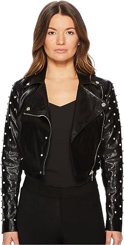 Versace Jeans Pearl Moto Crop Jacket