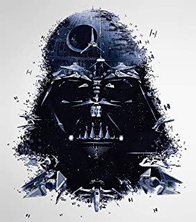 Star Wars Darth Vader Iron On Transfer for T-Shirts & Other Light Color Fabrics #1 Divine Bovinity