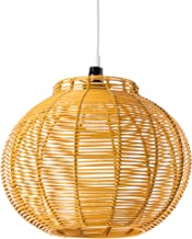 Hanglamp Korba geel rotan 60 Watt geel Ø 30 x H 24 cm