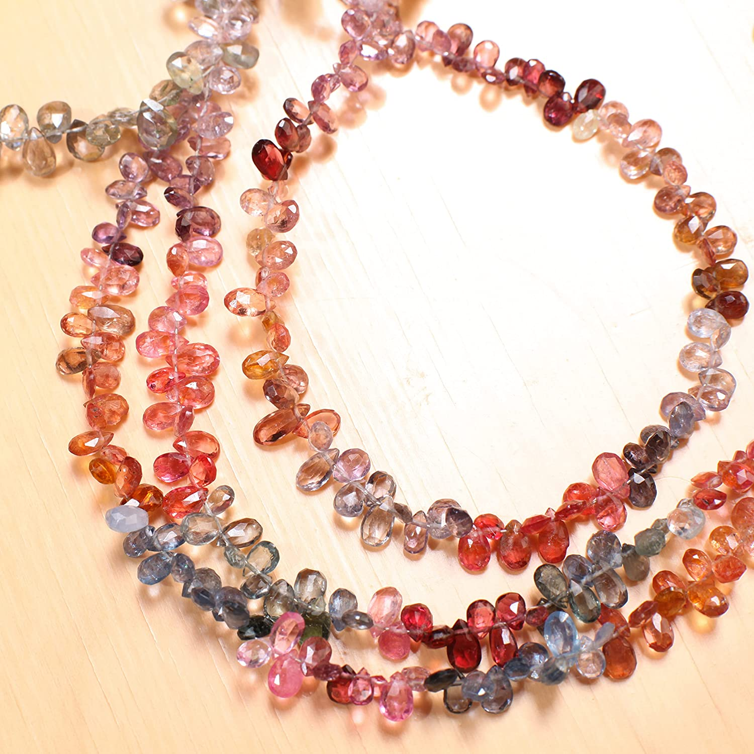 Natural Multi Shaded Spinel AAA Micro Austin Mall Faceted Drop 3x4- Cut Safety and trust Tear