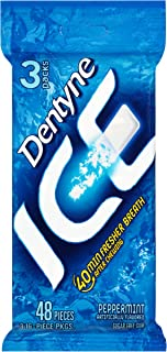 Dentyne Ice Sugar-Free Gum, Peppermint, (48 Count, Pack of 20)