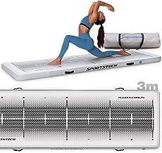 Yogamat incl. elektrische luchtpomp | opblaasbaar matras voor pilates, turnen & fitness | tumbling sportmat slipvrij + dra...