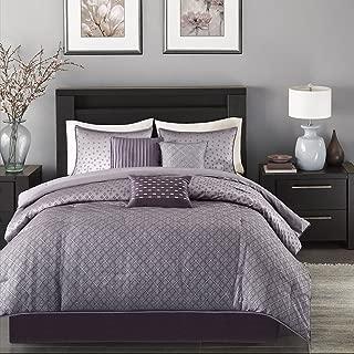 Madison Park Biloxi 7 Piece Comforter Set-Purple-Queen