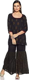 ZEMYRA Women's Cotton Straight Salwar Suit Set