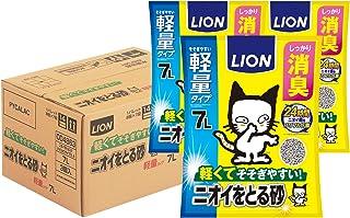 【Amazon.co.jp限定】ライオン (LION) ニオイをとる砂 猫砂 軽量タイプ 7L×3袋 (ケース販売)