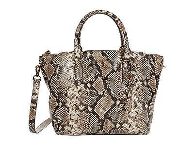 MICHAEL Michael Kors Elson Large Convertible Satchel (Natural) Handbags