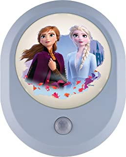 Disney Frozen, Anna and Elsa, II MySelect LED Night Light, Motion Sensor, Dusk to Dawn, Girl's Room Décor, UL-Listed, Idea...