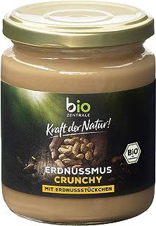 biozentrale Erdnussmus Crunchy, 3er Pack (3×250 g)