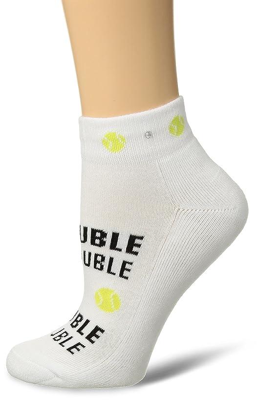 K. Bell Socks Women's Met My Match Tennis Novelty Low Cut Athletic Socks