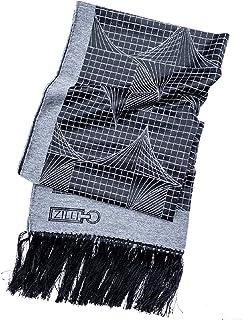 ZILLI(ジリー) マフラー ストール メンズ レディース ブランド ZILLI ジリー シルク カシミア ブラック グレー 高級