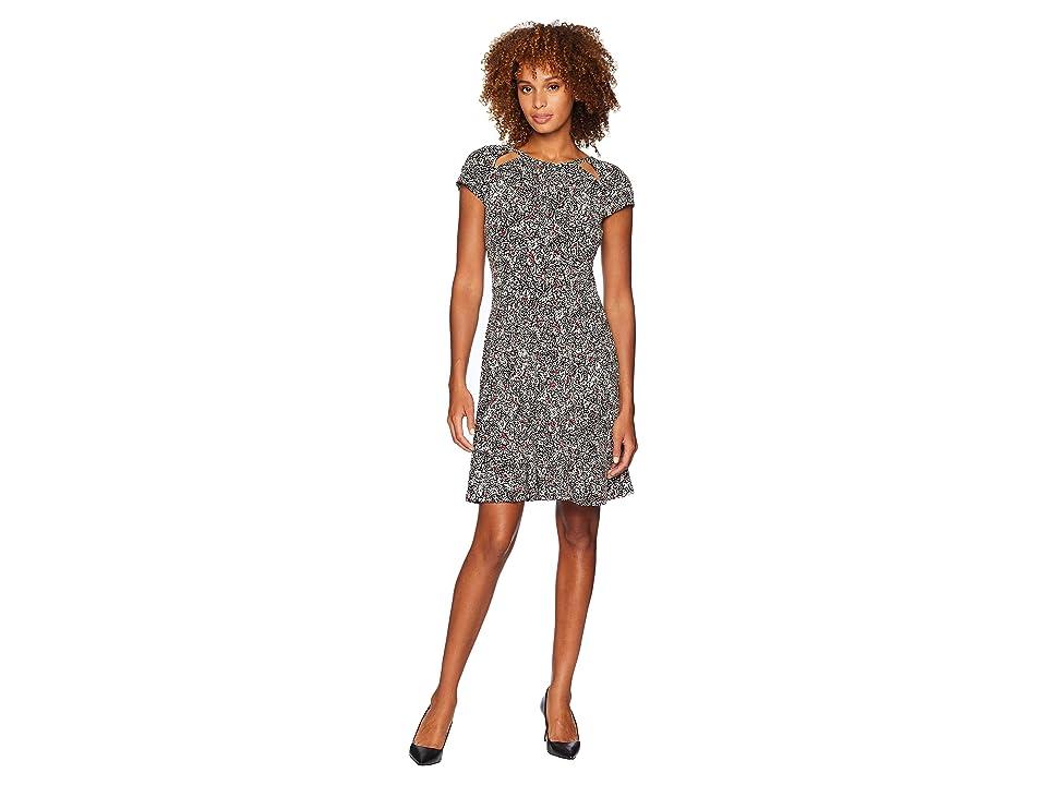 MICHAEL Michael Kors Boho Block Print Dress (Black/Maroon) Women