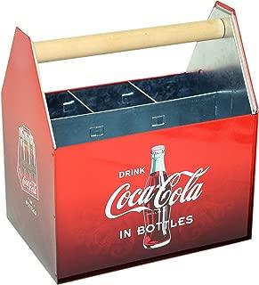 Coca Cola Galvanized Tin Utensil Caddy with Handle