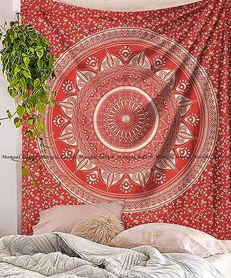 Sophia Art Tenture murale–à suspendre Violet Tye Dye Ombre Mandala tapisseries–Couverture de pique-nique de plage de bohème–Hippie décoratifs et psychédélique Décoration de Dortoir–213,4x 218,4cm