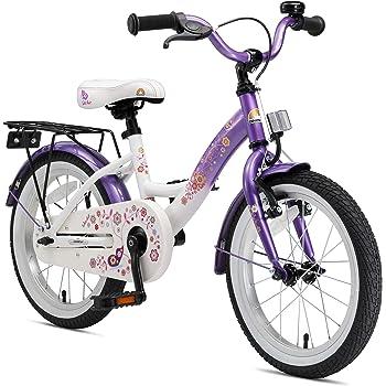 BIKESTAR Bicicleta infantil | Bici para niños y niñas 16 pulgadas | Color Lila | A partir de 4 años | 16