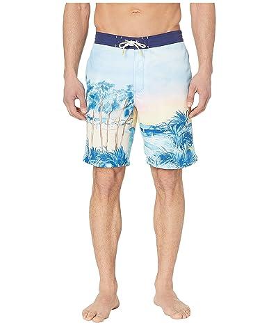 Tommy Bahama Baja Forte De Marimi Seas Swim Trunk (Glass Bead Blue) Men