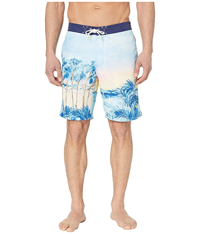 Tommy Bahama Baja Forte De Marimi Seas Swim Trunk (Glass Bead Blue) Men