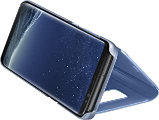 Samsung Galaxy S8 Clear View Standing Cover - Blue, EF-ZG950