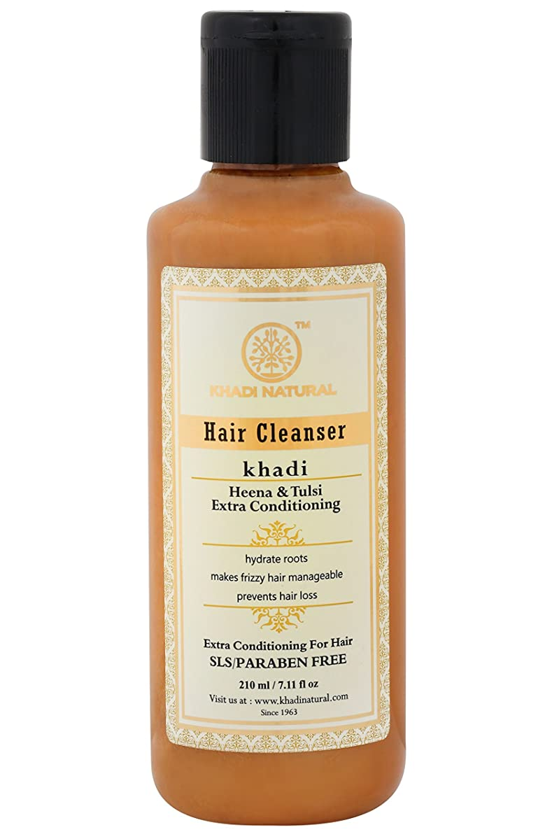 単位製造デコードするKhadi Natural Henna Tulsi Extra Conditioning Shampoo SLS/PARABEN FREE 210ML