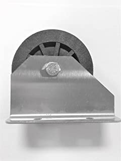 Lifetime Pulley Base Mount Nylon Pulley with Stainless Steel Bracket .375 Inch Rise (2.5 Inch Outside Diameter)