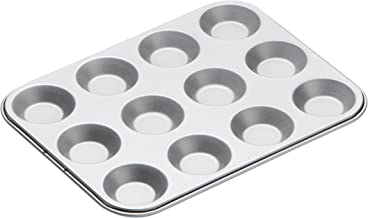 Kitchencraft Non-stick Twelve Hole Shallow Bake Pan 31.5x24cm, Card Insert