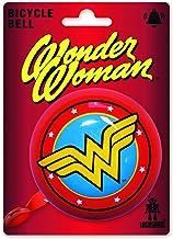 Logoshirt - DC Comics - Wonder Woman Logo - Timbre Bicicleta - Retro - Grande - Rojo - Diseño Original con Licencia