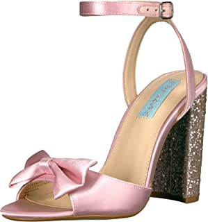 blue by betsey johnson wedge sandal with bow