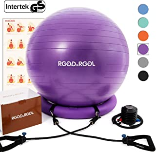 RGGD&RGGL Yoga Ball Chair, Exercise Ball with Leak-Proof Design, Stability Ring&2..