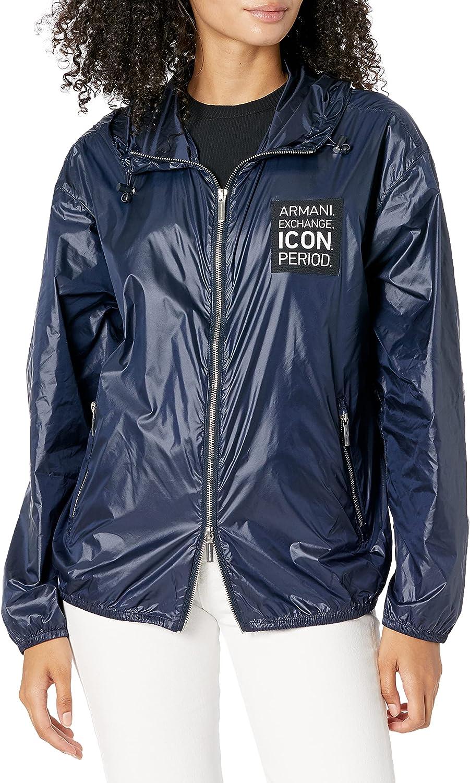 AX Armani Exchange Women's Icon Lightweight Windbreaker Jacket