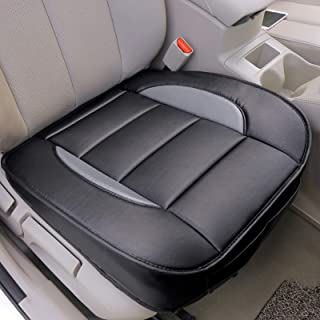 2 pcs Auto Interior Leather Universal Bottom Driver Car Seat Cushion Covers for Car, Truck, SUV, or Van - Leader Accessories