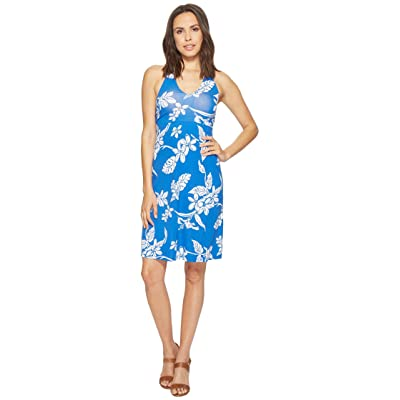 Tommy Bahama Hibiscus Hiatus Halter Dress (Cobalt Sea) Women
