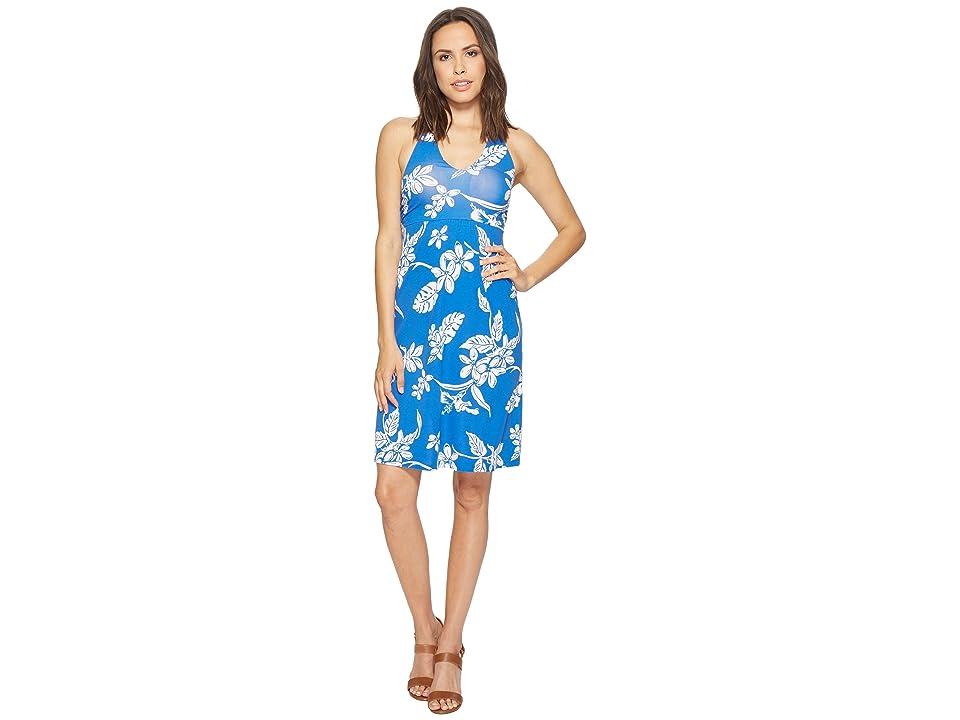 Tommy Bahama Hibiscus Hiatus Halter Dress (Cobalt Sea) Women
