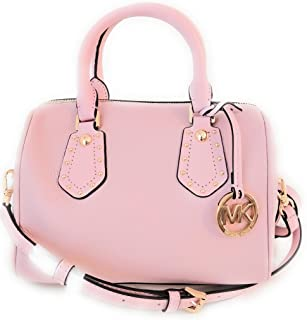 71a2ab3217da MICHAEL Michael Kors Women s ARIA Small Leather Satchel Studded Handbag  (Blossom)