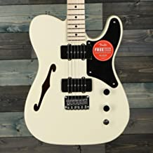 Squier Paranormal Cabronita Telecaster Thinline Electric Guitar (Olympic White)