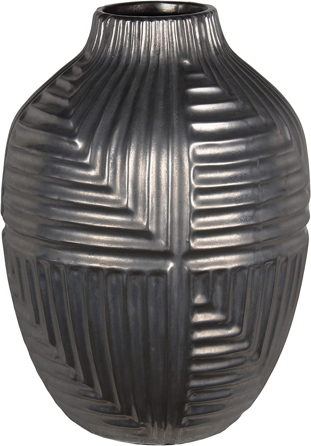 Privilege 20192 Large Ceramic Vase, Silver