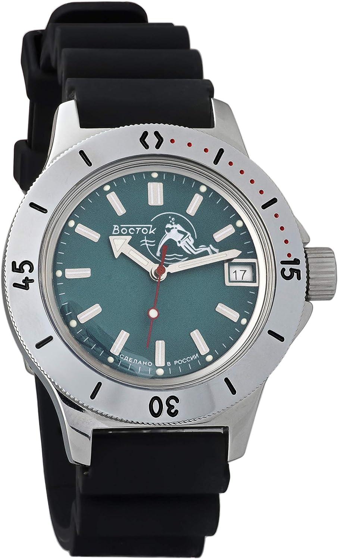Vostok Ranking TOP14 Amphibian Automatic Mens Albuquerque Mall Wristwatch #12 Dude Scuba Case