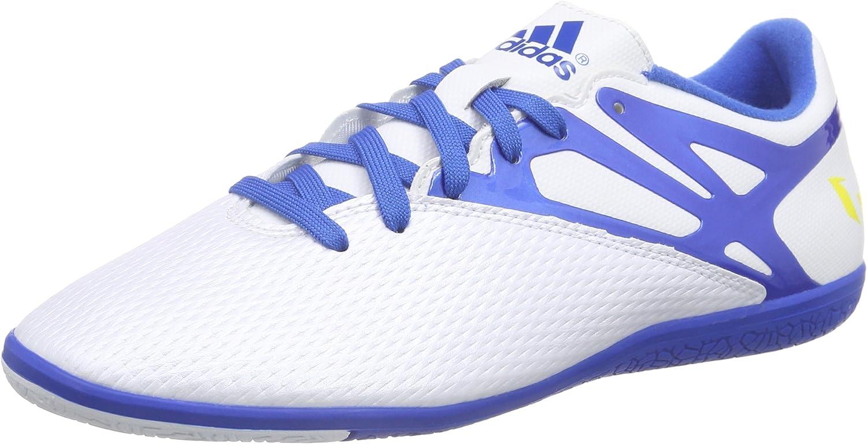 Adidas Men's Messi 15.3 in, White bluee Black