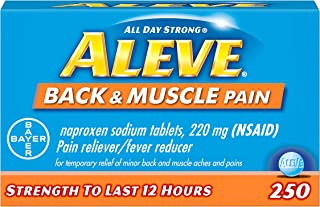 Aleve Back and Muscle Pain Tablets, Fast Acting All Day Targeted Relief for Headache, Muscle, and Back Pain, Naproxen Sodi...