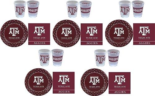 calidad auténtica Westrick Texas Texas Texas A&M Aggies Suministros de fiesta – 81 piezas 5-(Pack)  ¡envío gratis!