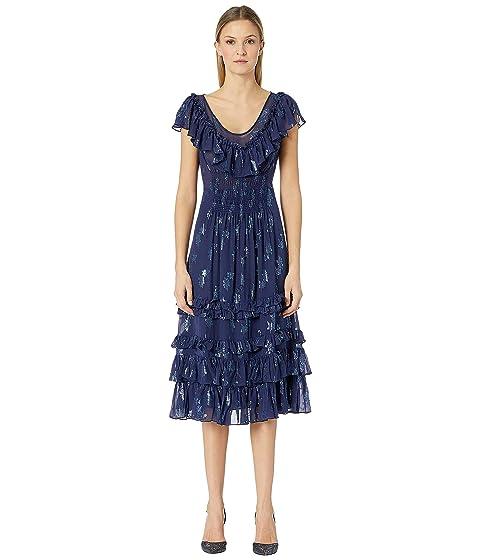 Rebecca Taylor Sleeveless Metallic Star Dress