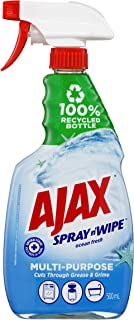 Ajax Spray n' Wipe Multipurpose Antibacterial Disinfectant Cleaner Trigger Surface Spray Ocean Fresh Made in Australia 100...