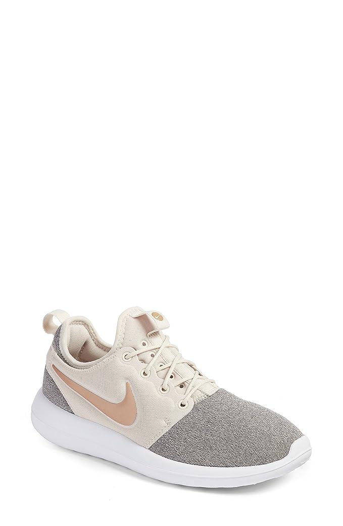 バリー政権高速道路ナイキ シューズ スニーカー Nike Roshe Two Knit Sneaker (Women) Brown/ Bla [並行輸入品]