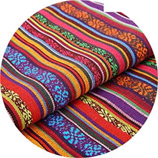 New 100X150Cm Polyester/Cotton Fabric Ethnic Decorative Fabrics for Sofa Cover Cushion Cloths Curtains 22 Styles,11