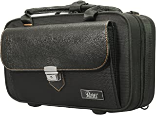 Paititi Lightweight Vegan Leather Bb Clarinet Case with Shoulder Strap, Backpackable