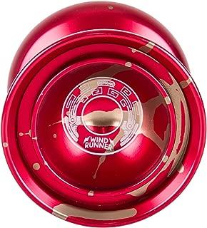 Duncan Toys Windrunner Yo-Yo [Red with Gold Splash] - Pro Level Aluminum Yo-Yo with Double Rim, Concave Bearing, SG Sticker Response
