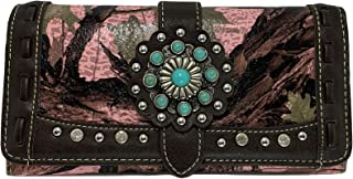 Montana West Tr-Fold Western Wristlet Wallet- Camouflage Pink