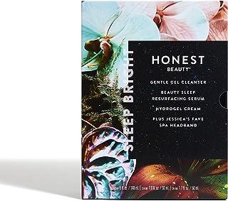 Honest Beauty Sleep Bright Gift Set   Perfect for Gifting   Full Size Gentle Gel Cleanser, Beauty Sleep Resurfacing Serum ...