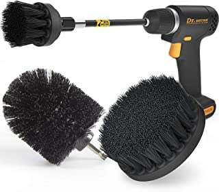 Holikme 4Pack Drill Brush Power Scrubber Cleaning Brush Extended Long Attachment Set All Purpose Drill Scrub Brushes Kit f...
